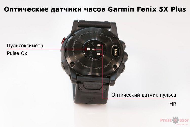 Оптические сенсоры часов Garmin Fenix 5X plus