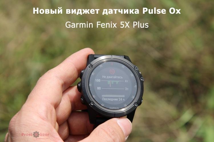 Виджет Пульсоксиметр-а в Garmin Fenix 5X plus