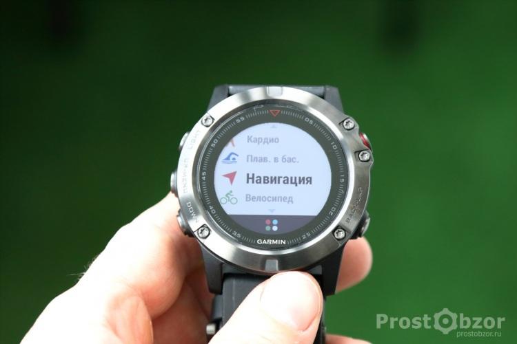 Кнопки управления часов Garmin Fenix 5x