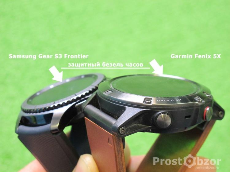 Защитный безель часов  Samsung Gear S3 Frontier - Garmin Fenix 5x