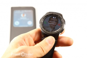 Уведомления на часах Samsung Gear S3 Frontier - телефон