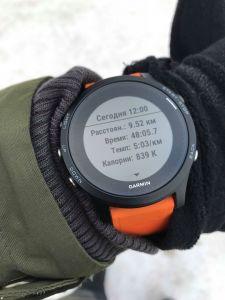 Пробежка с часами Garmin Forerunner 935