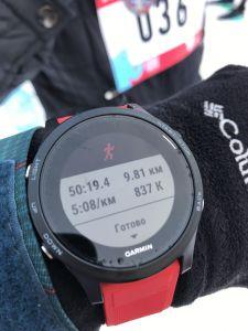 Результаты пробежки в часах Forerunner 935