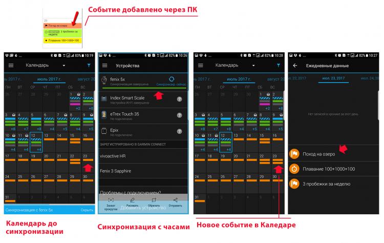 Синхронизация данных Календаря через мобильный телефон