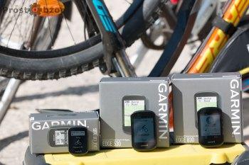 Сравнение размеров велокомпьютеров Garmin Edge