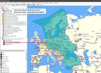 Вело карта Garmin  - северо-востояная Европа для Garmin Edge