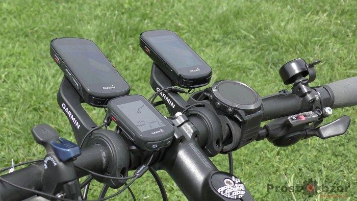 Пример крепления велокомпьютеров Garmin Edge на руле