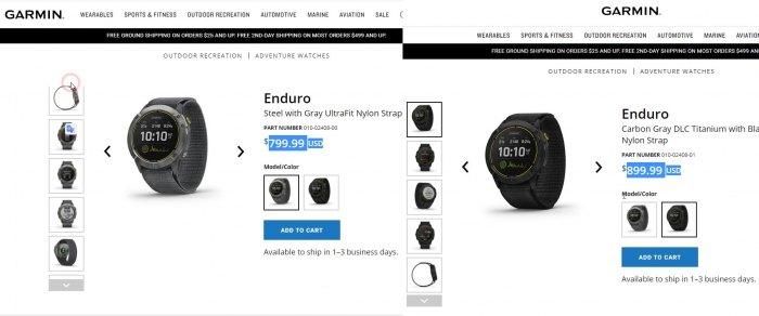 Цена часов Garmin Enduro