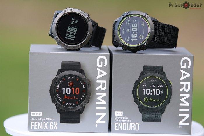 Две модели часов  - Garmin-Enduro vs Fenix 6x