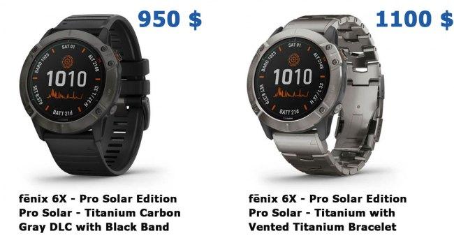 Цена часов Garmin Fenix 6X pro solar