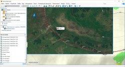 Пример спутниковой карты BirdsEye в программе Garmin BaseCamp