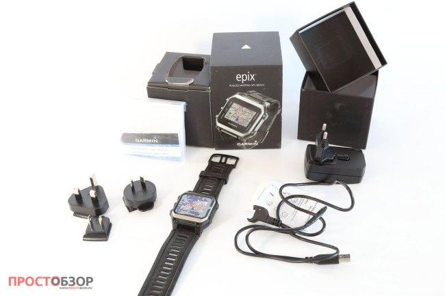 Распаковка часов Garmin Epix - комплектация поставки