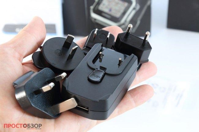 Штепсельные вилки и зарядный блок для часов Garmin Epix