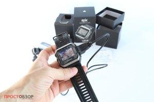 Garmin Epix  - вид спереди -распаковка