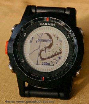 Пример карты -схемы на часах Garmin Fenix 2