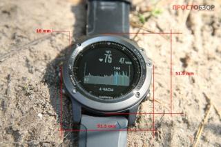 Размеры часов Garmin Fenix 3 HR