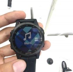 Музыкальный плеер в часах Garmin Fenix 5 Plus