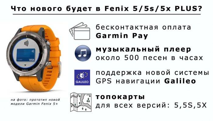 Новые улучшения в часах Garmin Fenix 5 Plus