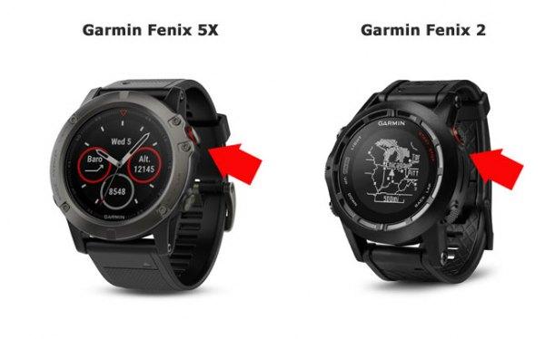 Кнопка Старт в часах Garmin Fenix 5  - Fenix 2