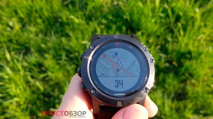 Навигация до метки в часах Garmin Fenix 5X