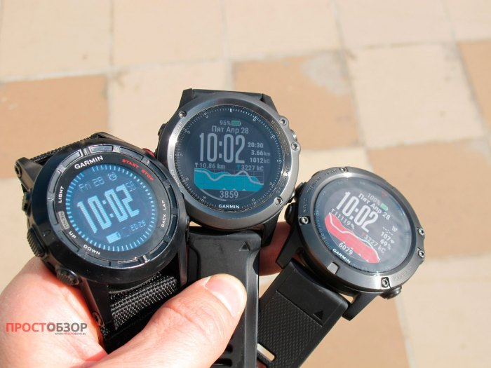 3 модели часов Garmin - Fenix 2, Fenix 3 HR, Fenix 5X