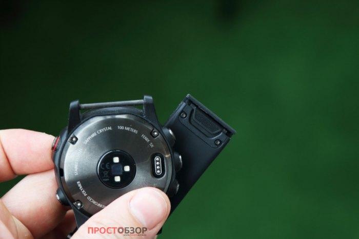Отсегивающийся ремешок QuickFit для часов Garmin Fenix 5 X