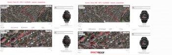 Сравнение записи GPS треков в городе: Garmin Fenix 5X  - Fenix 3HR