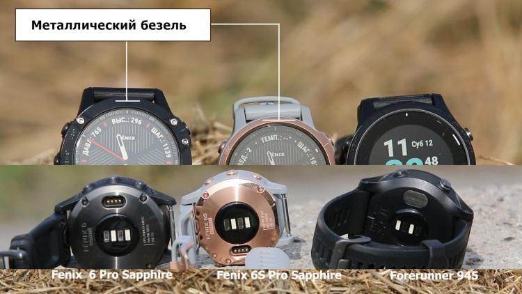 Металлический безель часов Fenix