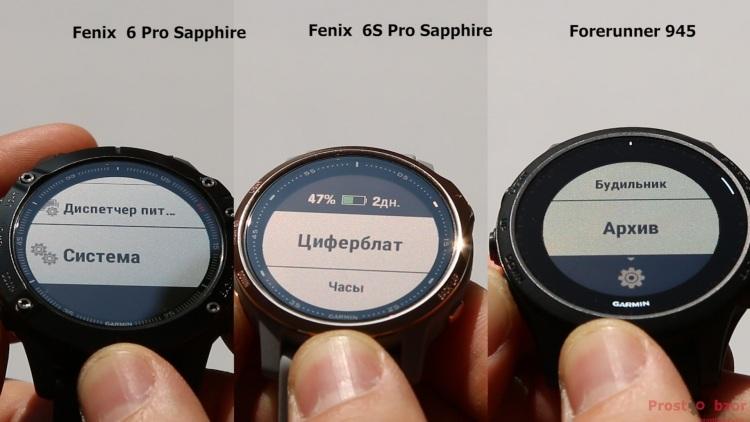 Кнопки вверх - вниз для управления меню в часах Fenix 6 - 6s - Forerunner 945