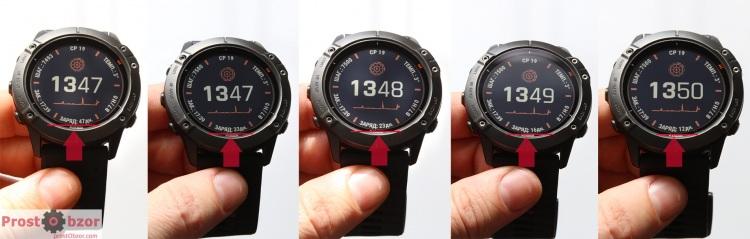Время работы часов на одном заряда в зависимости от режима Garmin Fenix 6X Pro Solar