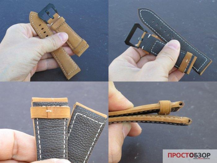 Кожаный ремешок для часов Fenix 3, 3HR - 5X - китайская реплика