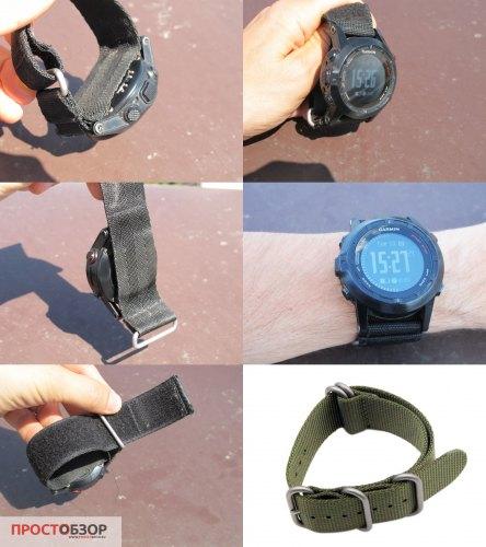 НАТОвский ремешок для часов Fenix 2 - для ношения поверх одежды зимой