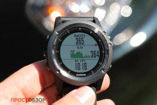 Дата-поля графика высот по маршруту в часах Garmin Fenix 3 HR