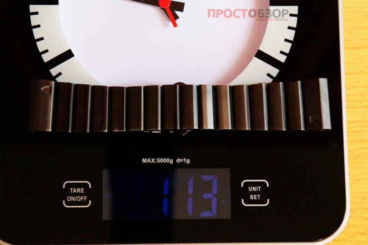 Вес металлического браслета часов Garmin Fenix 3