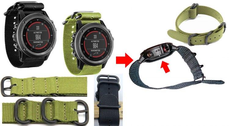 Тактичный ремешок NATO часов Garmin Fenix 3 на eBay