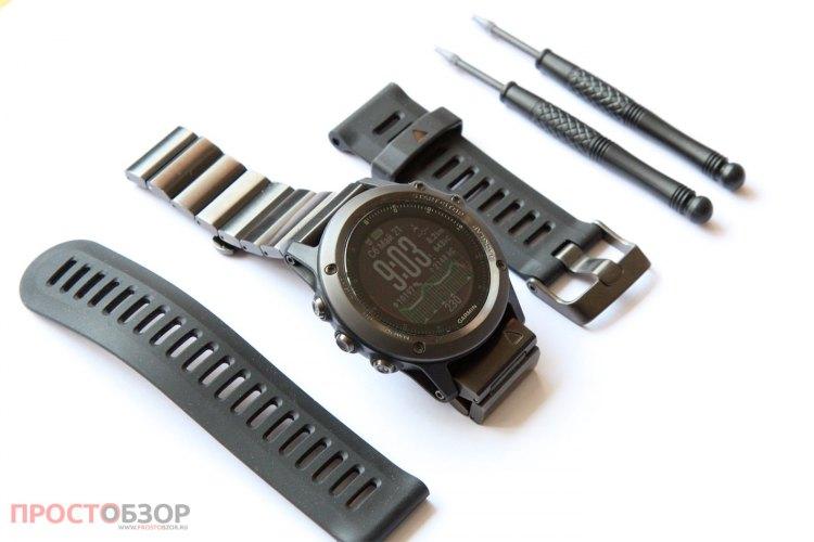 Как сменить браслет часов Garmin Fenix 3
