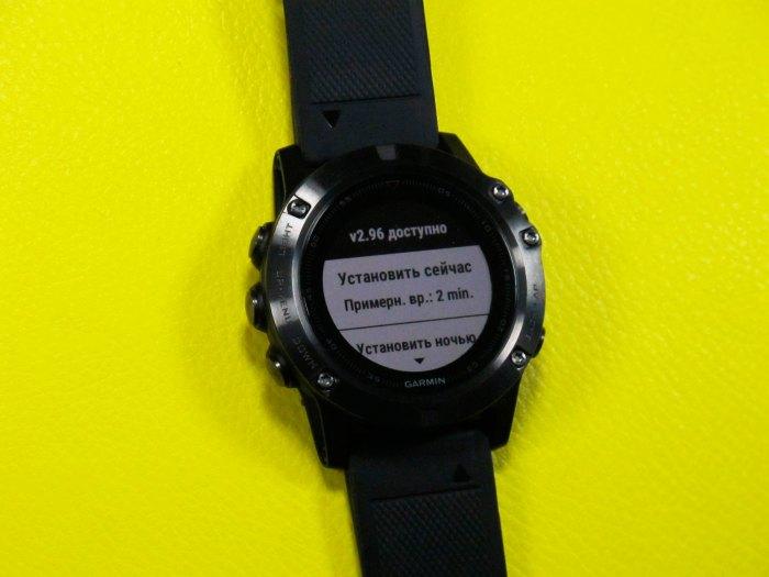 Информация про новое обновление часов Fenix 5 X - ver. 2.96