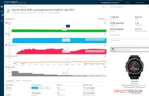 Пробежка с часами Garmin Fenix 3HR и шагомером Garmin Foot Pod - GPS отключен