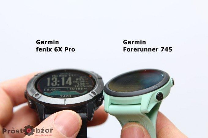 Корпус часов Garmin Forerunner 745 и Fenix 6x Pro Solar