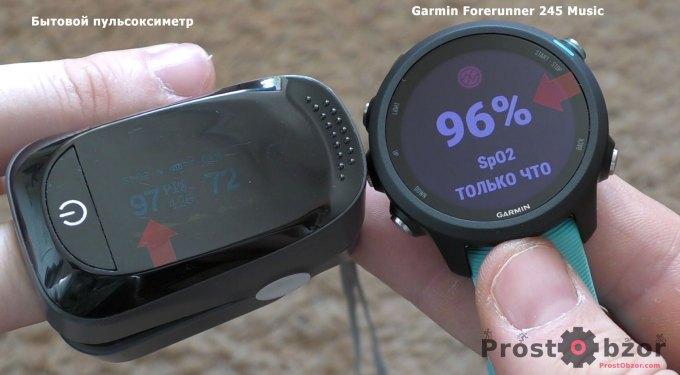 Тест пульсоксиметра Garmin Forerunner 245 music