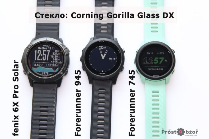Защитное стекло циферблата часов Garmin Forerunner 745 - 945 - fenix 6X Pro