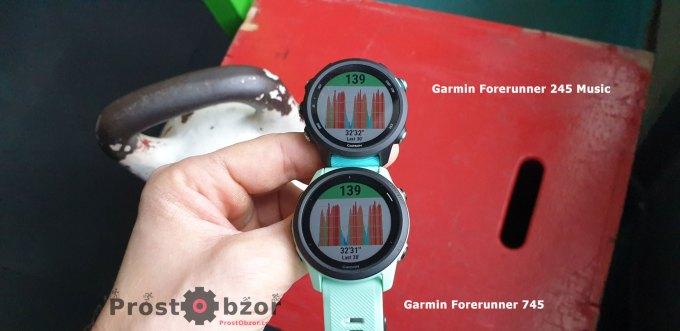 Кардио тренировки с Garmin Forerunner 745 - 245 Music