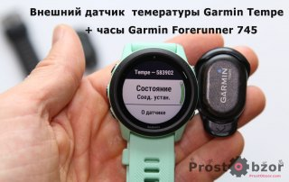 Внешний датчик температуры Garmin Tempe  + Forerunner 745