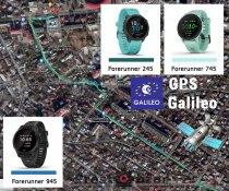 Тест записи GPS + Galileo для часов  Garmin Forerunner 745 vs 945 vs 245