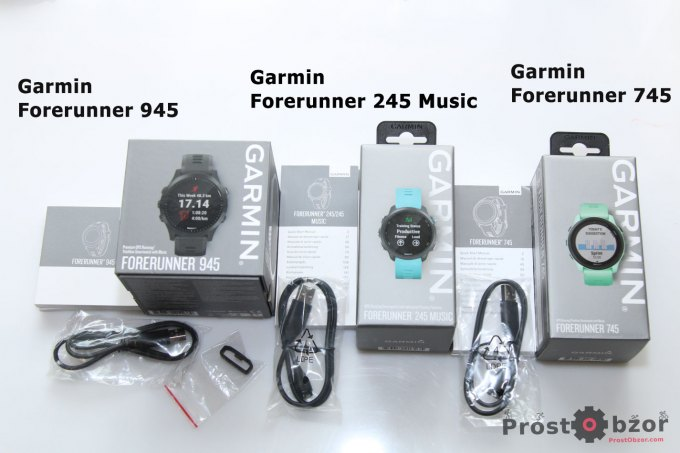 Распаковка и комплектация часов Garmin Forerunner 745