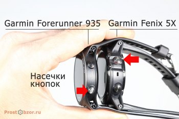 Насечки кнопок часов Garmin Forerunner 935- кнопка Старт