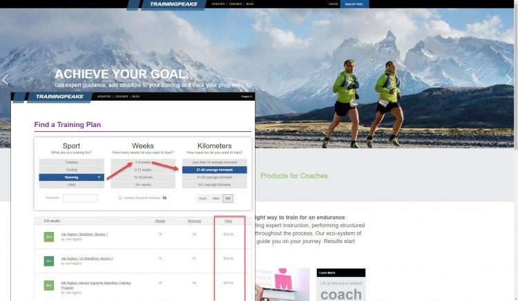 TrainingPeak программа для бегунов и марофонцев - подготовка тренировок с тренером