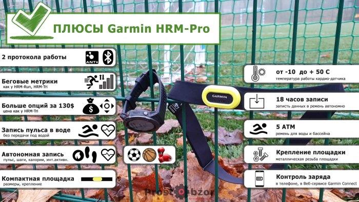 Плюсы работы с кардио датчиком Garmin HRM-Pro