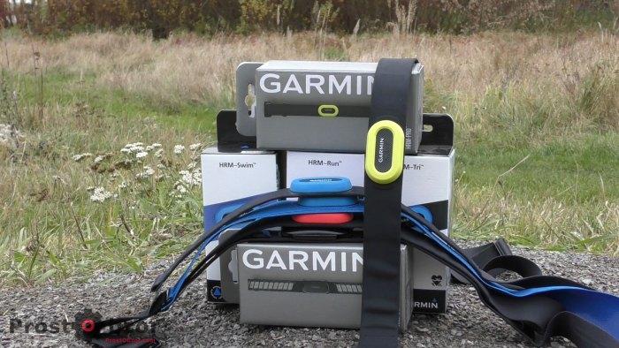 Список доступных кардио ремней HRM от Garmin