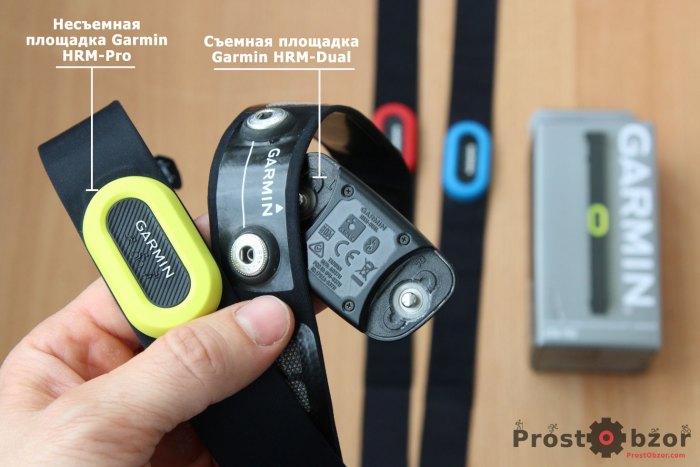 Сравнение площадок Garmin HRM-Pro и Garmin HRM-Dual